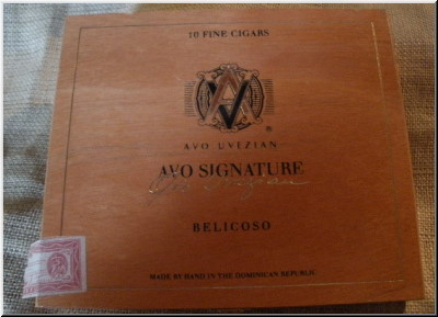 Cigar Box Art Avo Signature Belicoso Empty Box
