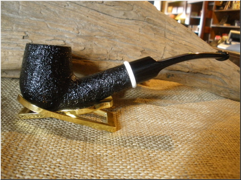 Pipe Classic Series Dark Sandblast Bent Billiard