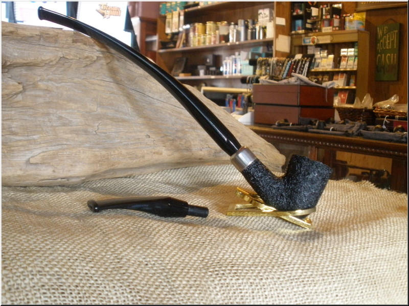 Pipe Classic Series Dark Sandblast Churchwarden w/Nickel Collar