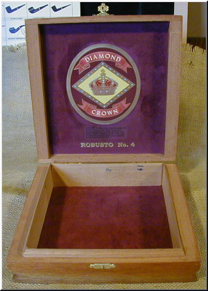 Cigar Box Art Diamond Crown Empty Box