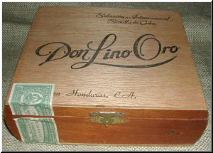 Cigar Box Art Don Lino Oro Cigar Empty Box
