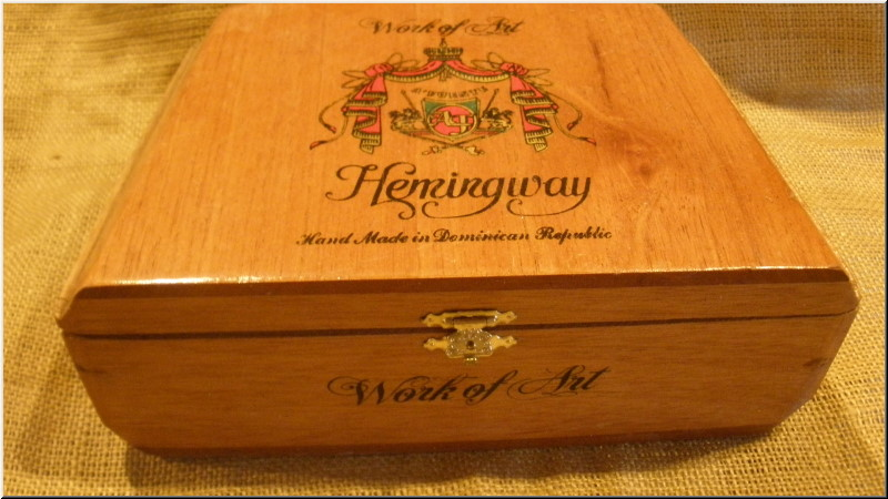 Cigar Box Art Fuente Hemingway Work of Art Empty Box