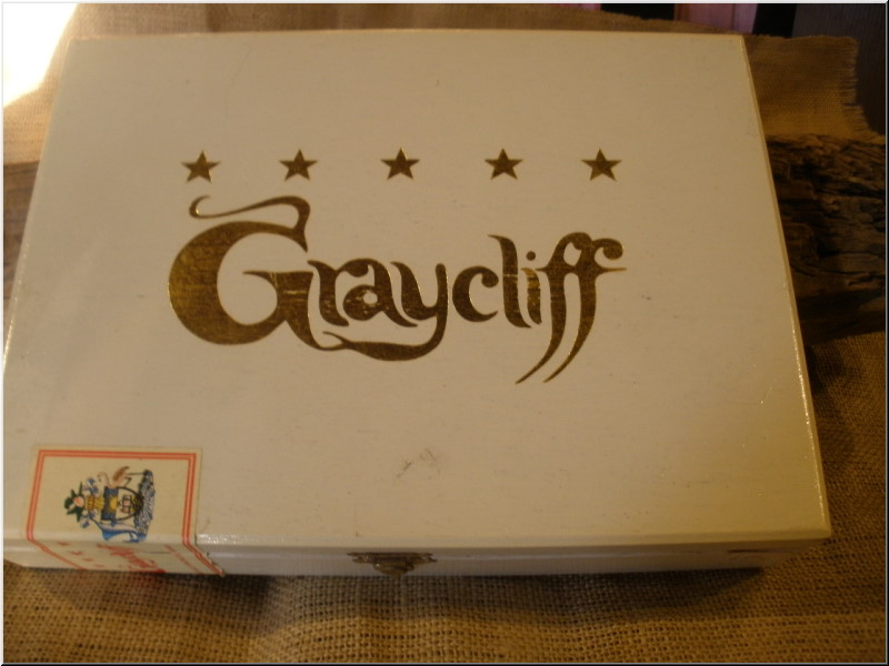 Cigar Box Art Graycliff cigar empty box