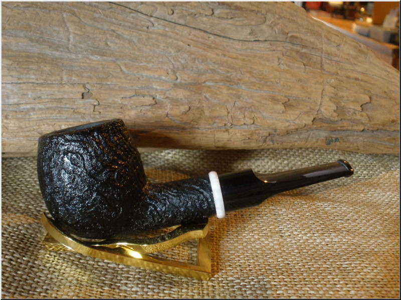 Pipe Dark Sandblast Straight Apple