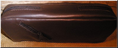 Pipe and Tobacco Bags Combo 2 Pipe, 4 Zip Pipe and Tobacco Pouch Brown