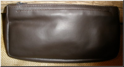 Pipe and Tobacco Bags 1 Zip Tobacco Pouch Brown