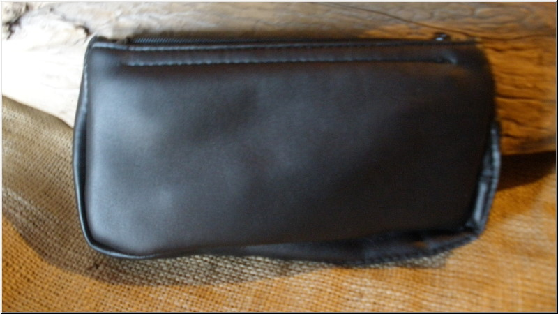 Pipe and Tobacco Bags Combo 1 Pipe, 2 Zip Black