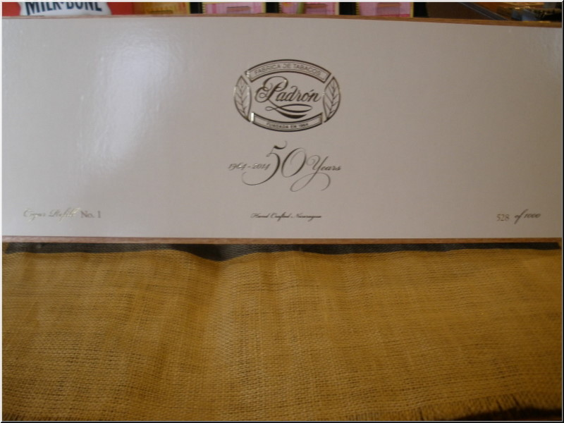 Cigar Box Art Padron 50th Anniversary re-fill Empty Box