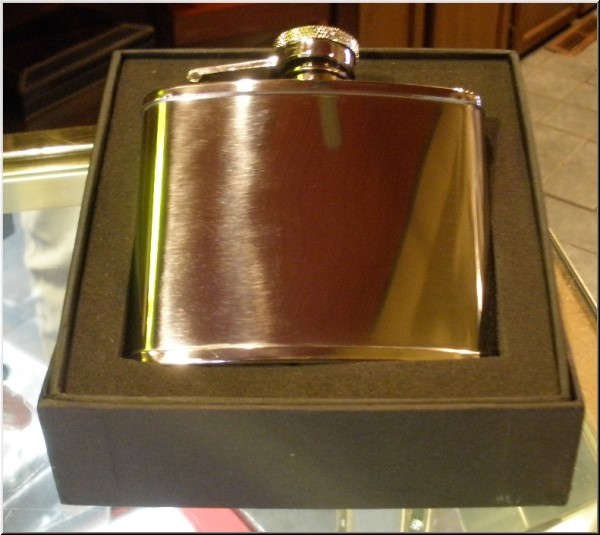 Spirit Flasks Stainless Steel-Polished Chrome Flask - 4oz