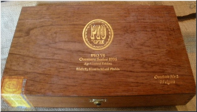 Cigar Box Art Pio VI Cigar Empty Box