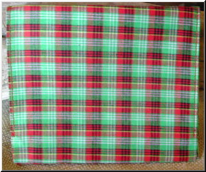 Pipe and Tobacco Bags Plaid Vinyl Roll-up tobacco pouch.