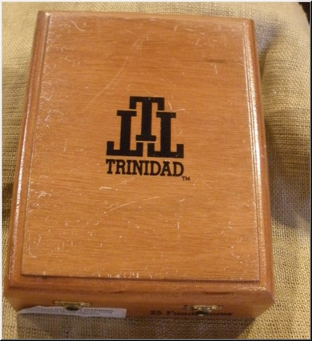 Cigar Box Art Trinidad Fundadores Empty Box