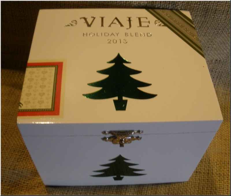 Cigar Box Art Viaje 2013 Christmas Tree Empty Box